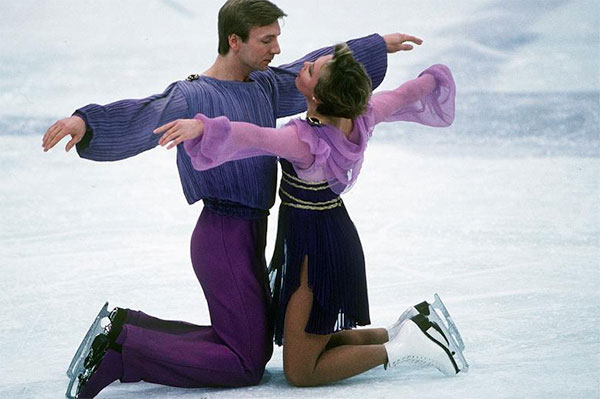 Torvill and Dean Bolero pose on ice